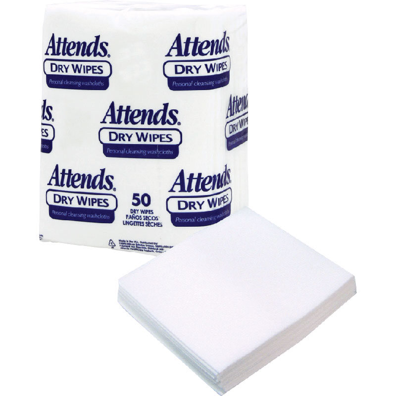 "Attends Dry Wipes, 10"""" x 13"""", Medium-Weight 482503"