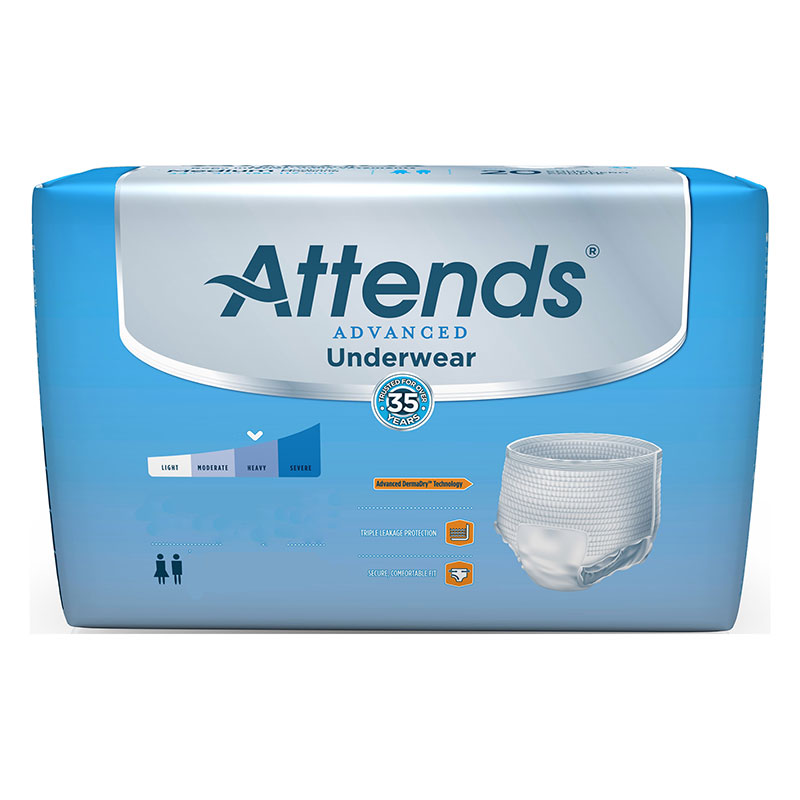 "Attends® Super Plus Absorbency Protective Underwear with Leakage Barriers, Large (44"" to 58"", 170-210 lbs) 48APP0730"