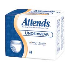 "Attends Unisex Regular Absorbency Value Tier Protective Underwear Medium 34"""" - 44"""" 48APV20"