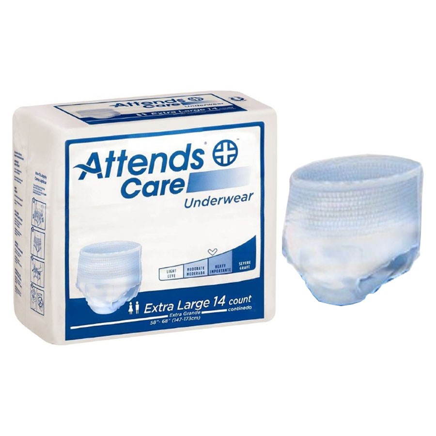"Attends Care Underwear, Moderate-Heavy Absorbency, Extra Large, 58"""" - 68"""" 48APV40100"