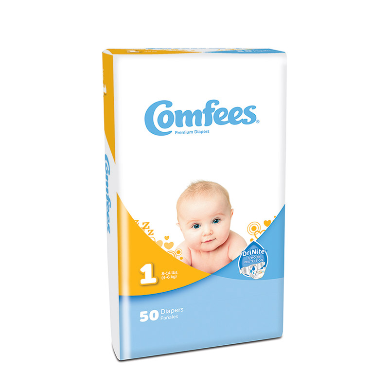Comfees Baby Diapers - Size 1 48CMF1