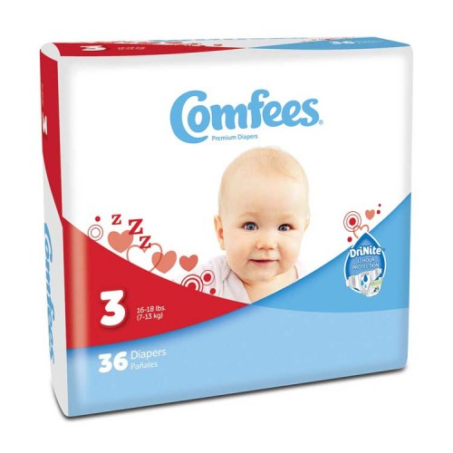 Comfees Baby Diapers - Size 3 48CMF3