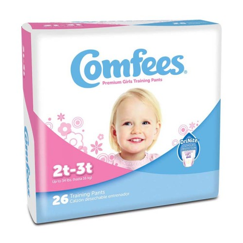 Comfees Girl Training Pants - Size 2T-3T 48CMFG2