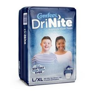Comfees DriNite Juniors Youth Pants, Large/X-Large 48CMFYLXL
