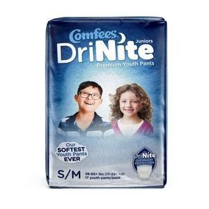 Comfees DriNite Juniors Youth Pants, Small/Medium 48CMFYSM