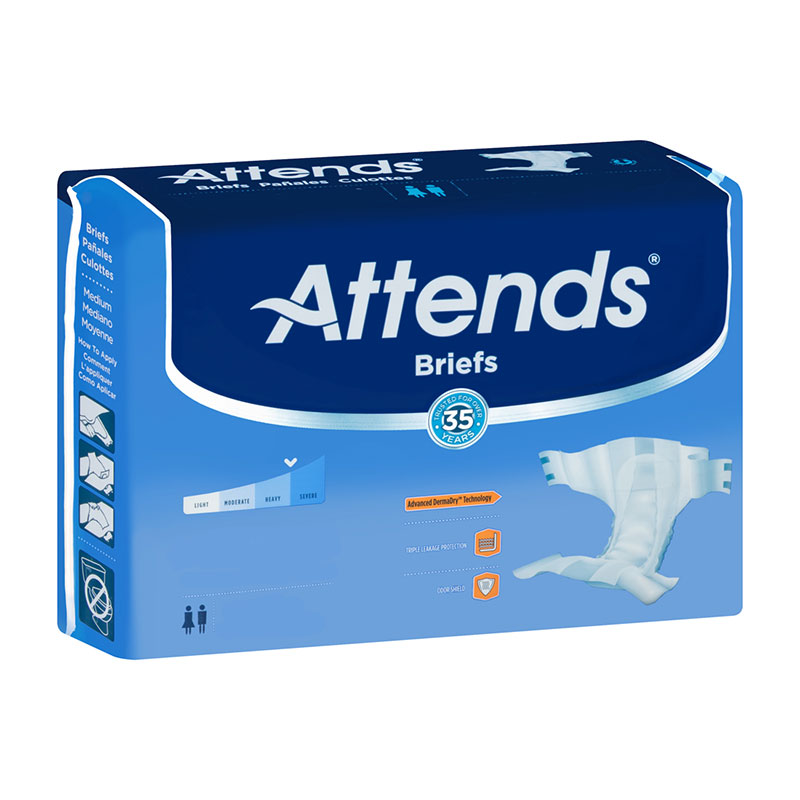 "Attends DermaDry Advance Briefs Medium 32"""" - 44"""" 48DDA20"