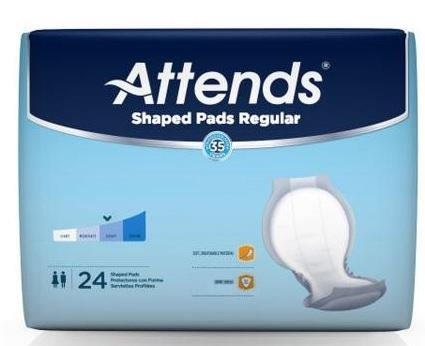 Attends Shaped Pads, Day Regular 48SPDRA