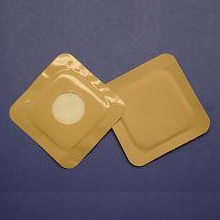 """Austin Medical Products AMPatch Style NE Stoma Cover 3"""" x 3"""" 1-1/8"""" Round Center Hole 49838234000127"""