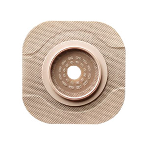 "New Image CeraPlus 2-Piece Cut-to-Fit Tape Border (Extended Wear) Barrier Opening 1-1/4"""" Stoma Size 1-3/4"""" Flange Size 5011202"