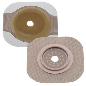 "Hollister New Image® FlexWear® Up to 3-1/4"" Cut-to-Fit Flat Skin Barrier 4"" Flange, Tape Border 5014206"