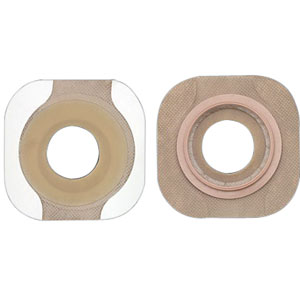 "New Image 2-Piece Precut Flat FlexWear Skin Barrier 1-3/8"" with Tape Border 5014307"
