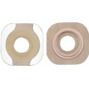 "New Image 2-Piece Precut Flat FlexWear Skin Barrier 1-3/4"" with Tape Border 5014309"