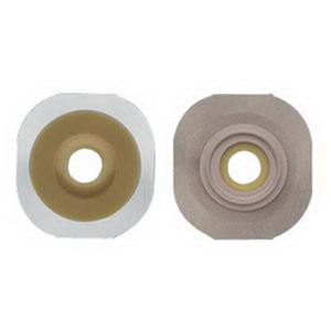 "Hollister New Image® FlexWear® 1-1/8"" Pre-Cut Convex Skin Barrier, 2-1/4"" Flange, Tape Border, Red 5014505"