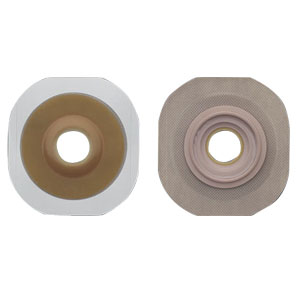 "Hollister New Image® Flextend® 1-3/8"" Pre-Cut Convex Skin Barrier, 2-1/4"" Flange, Tape Border, Red 5014907"