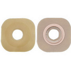 "Hollister New Image® FlexWear® 1-1/4"" Pre-Cut, Flat Skin Barrier, 1-3/4"" Flange, Green 5016406"