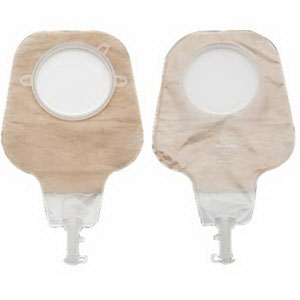 "Hollister New Image® Two-Piece High Output Drainable Pouch, 1-3/4"" Flange, Soft Tap, Ultra Clear 5018012"