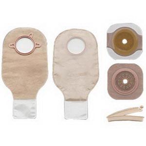 "New Image Two-piece Colostomy/Ileostomy Drainable Single-use Kit 2-1/4"""", Clamp Closure 5019154"