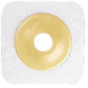 "Sur-fit Natura Stomahesive Cut-to-fit Flexible Wafer 4"""" x 4"""" Flange 1-1/2"""" White 51125258"