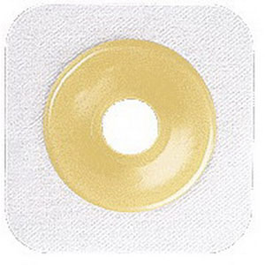 "Sur-fit Natura Stomahesive Cut-to-fit Flexible Wafer 5"""" x 5"""" Flange 2-1/4"""" White 51125260"