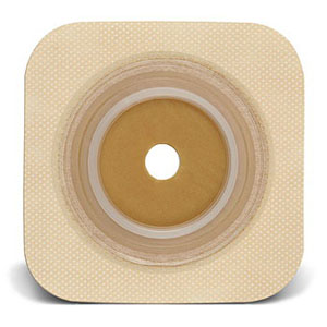 "Sur-fit Natura Stomahesive Cut-to-fit Flexible Wafer 4"""" x 4"""" Flange 1-1/2"""" Tan 51125263"