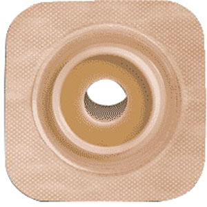 """Sur-fit Natura Stomahesive Flexible Pre-cut Wafer 4"""""""" x 4"""""""" Stoma 1"""""""" 51125271"""