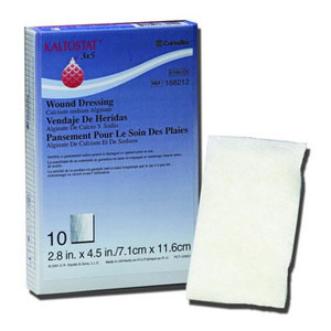 "KALTOSTAT Fortex Calcium Sodium Alginate Dressing 4"""" x 4"""" 51168356"