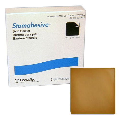 """Stomahesive Skin Barrier without Starter Hole, 4"""" x 4"""" 5121712"""