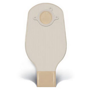 "ConvaTec SUR-FIT® Natura® Two-Piece Drainable Pouch, Mold-to-Fit, 1-1/4"" Flange, 12"" L, Opaque 51401500"
