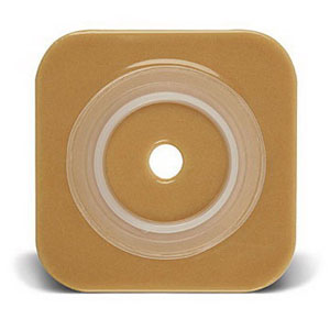 """Sur-Fit Natura Stomahesive Cut-to-Fit Wafer 4"""""""" x 4"""""""", 2-1/4"""""""" Flange 51401576"""