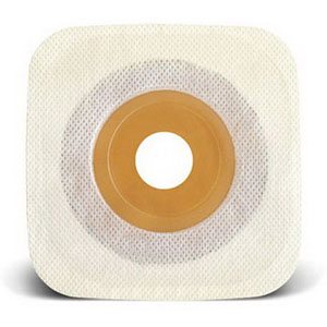 """ConvaTec Esteem synergy® Adhesive Coupling Technology™ Stomahesive® Two-Piece Skin Barrier, 1-1/8"""" Pre-Cut, Flat, 1-3/4"""" Flange, 4"""" x 4"""" 51405477"""