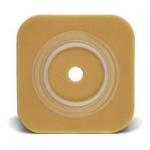 """ConvaTec SUR-FIT® Natura® Durahesive® Skin Barrier, Up to 1"""" Cut-to-Fit, 1-1/2"""" Flange, 4"""" x 4"""" 51413154"""