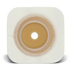 """ConvaTec SUR-FIT® Natura® Durahesive® Skin Barrier, Up to 2-1/4"""" Cut-to-Fit, 2-3/4"""" Flange,Tape Collar, 5"""" x 5"""" 51413163"""