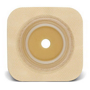 """ConvaTec SUR-FIT® Natura® Durahesive® Two-Piece Skin Barrier, Up to 3/4"""" Cut-to-Fit, 1-1/4"""" Flange, Tape Collar, 4"""" x 4"""" 51413164"""