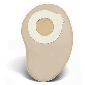 """ConvaTec Esteem synergy® + Two-Piece Standard Closed Pouch, Up to 1-3/8"""" Cut-to-Fit, Filter, 8"""" L, Tan 51416775"""