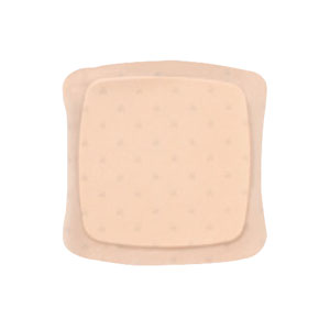 "AQUACEL Ag Foam Adhesive Dressing 5"" x 5"", 3.3"" x 3.3"" Pad Size 51420627"