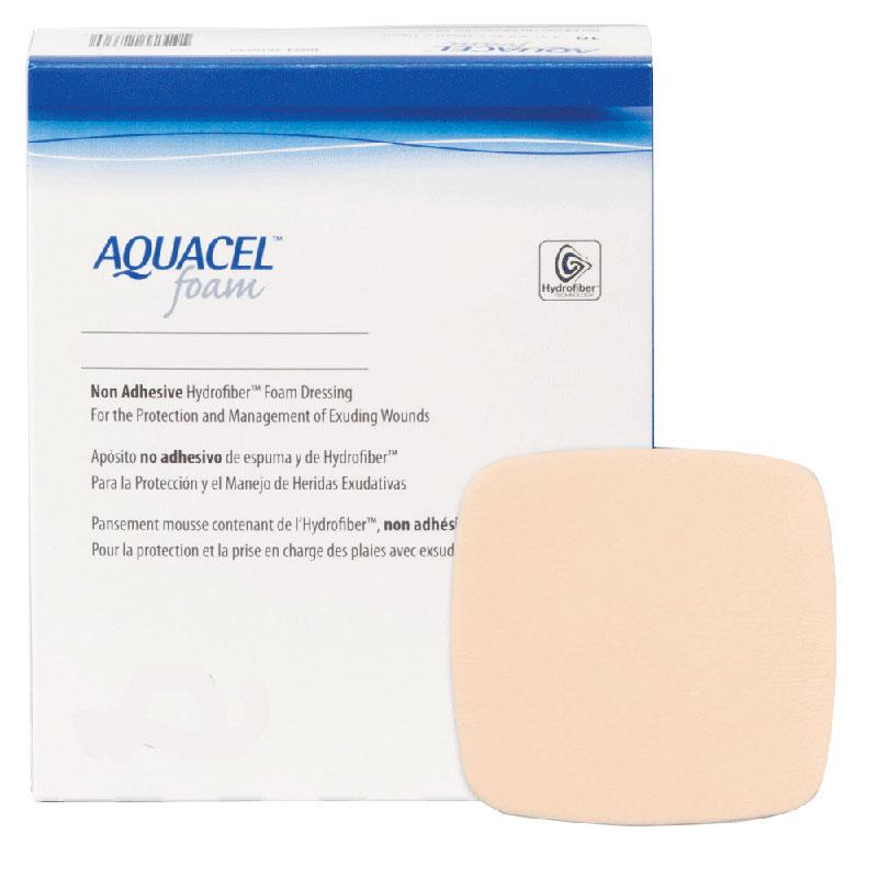 """ConvaTec AQUACEL® Non-Adhesive Gelling Foam Dressing 4"""" x 4"""" 51420633"""