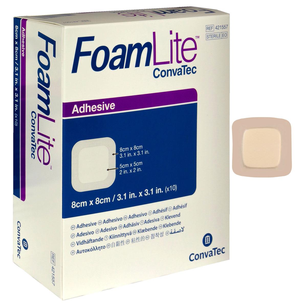 "FoamLite Foam Adhesive Dressing, Square, 3-1/4"" x 3-1/4"" 51421557"