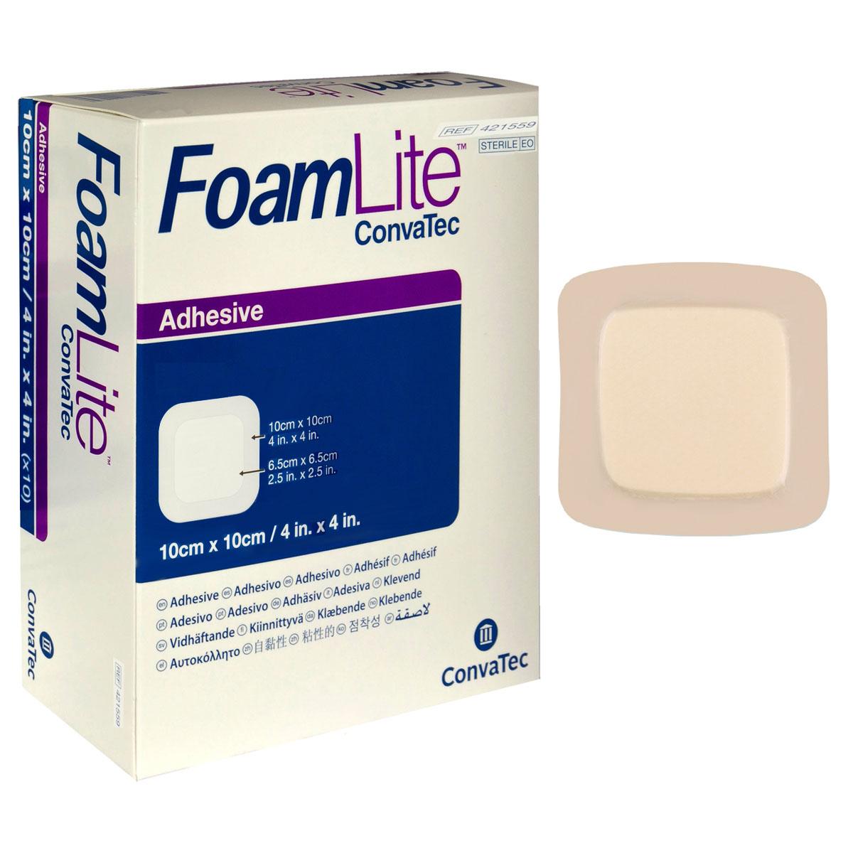 "FoamLite Foam Adhesive Dressing, Square, 4"""" x 4"""" 51421559"