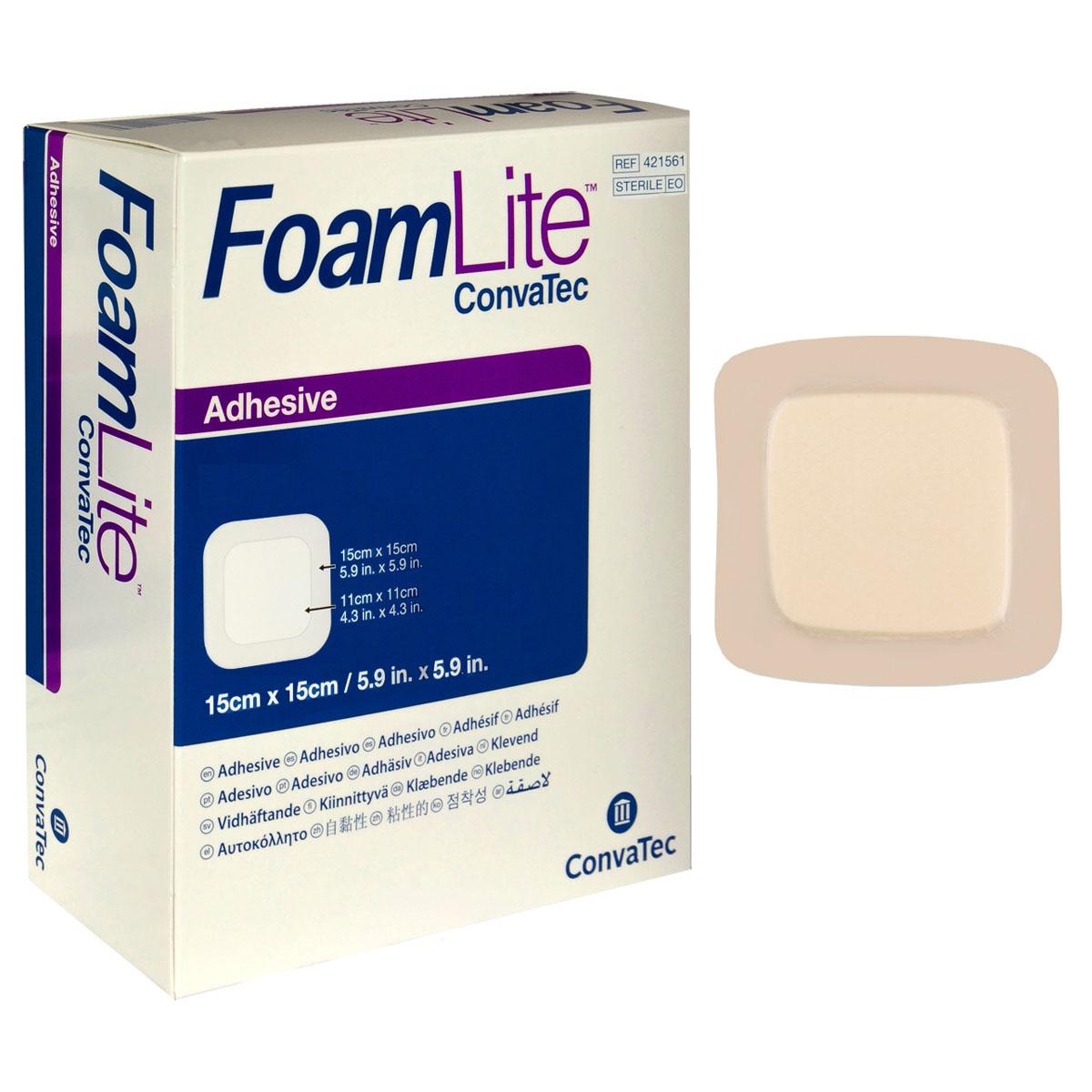 "FoamLite Foam Adhesive Dressing, Square, 6"" x 6"" 51421561"