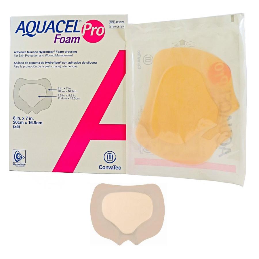 "Aquacel Foam Pro Adhesive Dressing, Sacral, 8"" x 6-3/4"" 51421579"