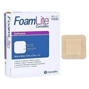 """FoamLite ConvaTec Foam Dressing, Square, 2"""""""" x 2"""""""" 51421927"""
