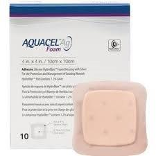"Aquacel Adhesive Foam Dressing, 6"" x 6"" 51422350"
