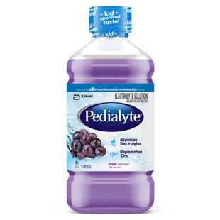 Pedialyte® Ready-to-Feed Grape 1L Bottle, Low Osmolality, Oral Electrolyte Maintenance Solution 5200240