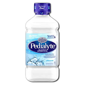 Pedialyte® Ready-to-Feed Unflavored 1L Bottle, Low Osmolality, Oral Electrolyte Maintenance Solution 52336