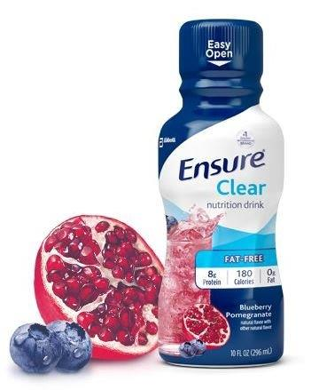 Ensure Clear Nutrition Drink, Blueberry Pomegrante, Ready-to-Drink, Retail, 10 fl oz 5256500