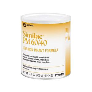 Similac® PM 60/40 Powder 14.1 oz Can, Low-Iron Infant Formula 52850