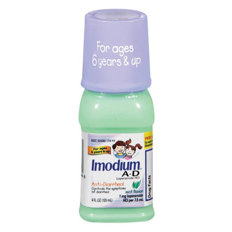 Imodium A-D Anti-Diarrheal, Mint Flavor, 4 fl oz 53013444