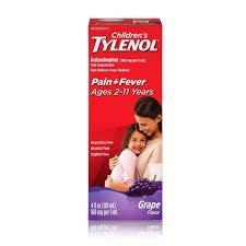 Children's Tylenol Oral Suspension Liquid, Grape Splash, 4 fl oz 53029608
