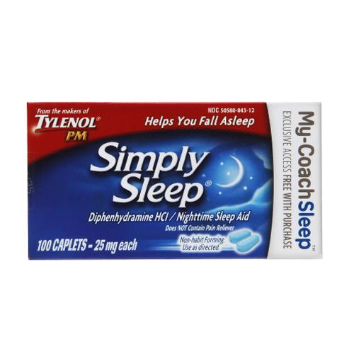 Simply Sleep Nighttime Sleep Aid, 25 mg 53084310
