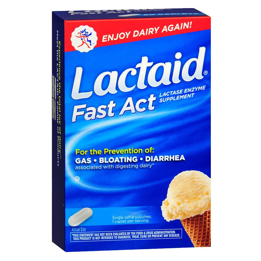 Lactaid Fast Act Lactase Enzyme Supplement, Caplets 53091060